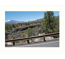 a drive through crater mountain park. Art Print