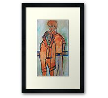 Takin' Lil Sis to the Ice Rink Framed Print