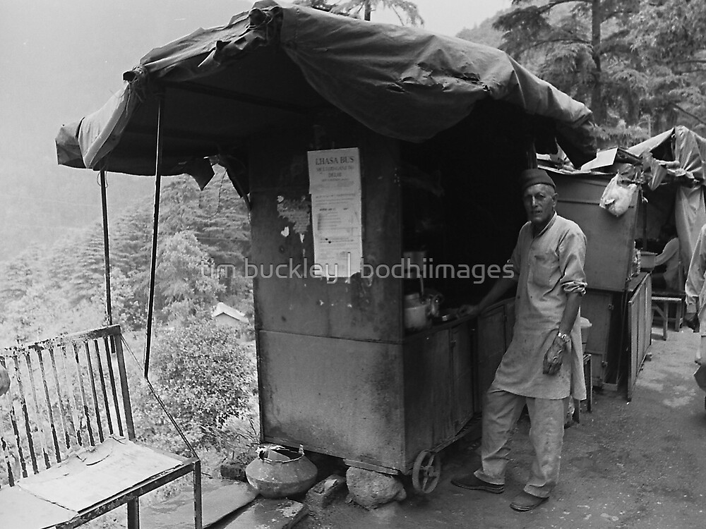 chai stand. northern india by tim buckley | bodhiimages