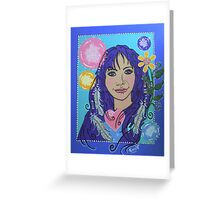 May Self Portrait Greeting Card