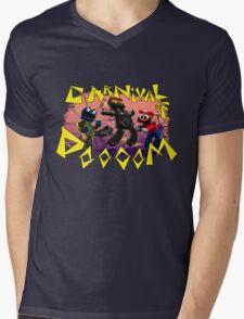 Carnival of Doooom w/Text Mens V-Neck T-Shirt