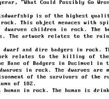 DWARF FORTRESS ROCK MUG ARTIFACT  by DrunkMonk