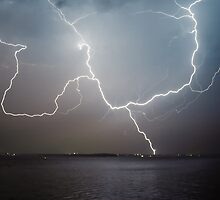 Norah Head Lightning by Chris Wheat