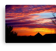 sky from uni Canvas Print