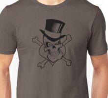 Tophat Heart Skull Unisex T-Shirt