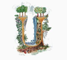 U - an illuminated letter by wiccked