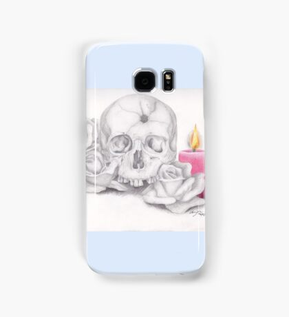 Skull with Roses and Candle Samsung Galaxy Case/Skin