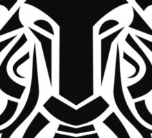 Zodiac Sign Aries Black Sticker