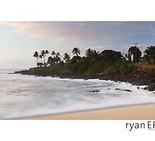 Sunset at Waimea Bay - Oahu, Hawaii by Ryan Epstein
