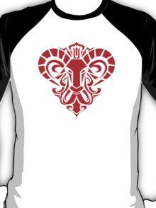 Zodiac Sign Aries Red T-Shirt