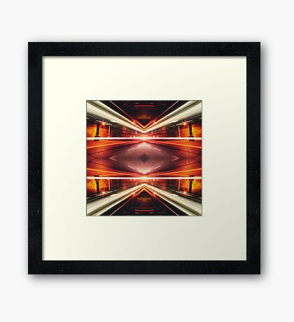 Geometric Street Night Light (HDR Photo Art) XTFORCE-TB Framed Print