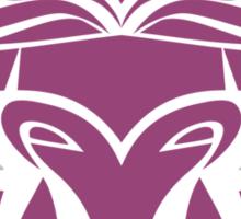 Zodiac Sign Taurus Violet Sticker
