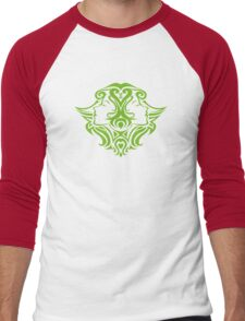 Zodiac Sign Gemini Green Men's Baseball ¾ T-Shirt