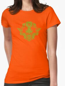 Zodiac Sign Gemini Green Womens Fitted T-Shirt