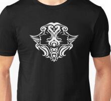 Zodiac Sign Gemini White Unisex T-Shirt