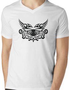 Zodiac Sign Cancer Black Mens V-Neck T-Shirt