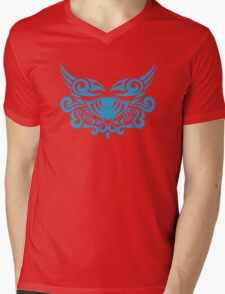 Zodiac Sign Cancer Blue Mens V-Neck T-Shirt