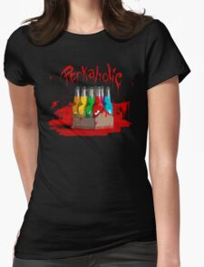 bloody perkoholic Womens Fitted T-Shirt