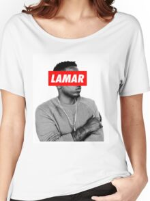"Kendrick Lamar ""LAMAR"" OBEY Style Women's Relaxed Fit T-Shirt"