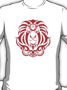 Zodiac Sign Leo Red T-Shirt