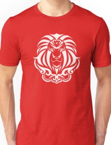 Zodiac Sign Leo White Unisex T-Shirt