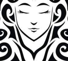 Zodiac Sign Virgo Black Sticker