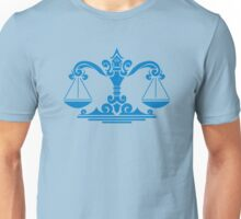 Zodiac Sign Libra Blue Unisex T-Shirt