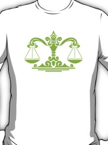 Zodiac Sign Libra Green T-Shirt