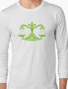 Zodiac Sign Libra Green Long Sleeve T-Shirt