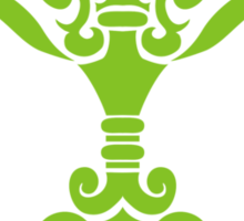 Zodiac Sign Libra Green Sticker