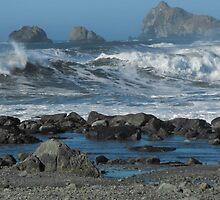layers of a ocean beach by Carolynn Cumor