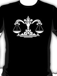 Zodiac Sign Libra White T-Shirt