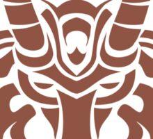 Zodiac Sign Capricorn Brown Sticker