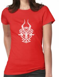 Zodiac Sign Capricorn White Womens Fitted T-Shirt