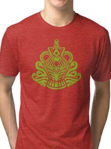 Zodiac Sign Aquarius Green Tri-blend T-Shirt