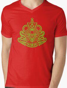 Zodiac Sign Aquarius Green Mens V-Neck T-Shirt