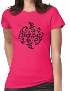 Zodiac Sign Pisces Black Womens Fitted T-Shirt