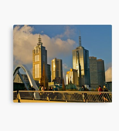 Evening skyline, Melbourne, Australia. Canvas Print