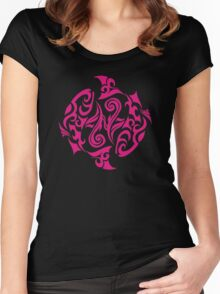 Zodiac Sign Pisces Pink Women's Fitted Scoop T-Shirt