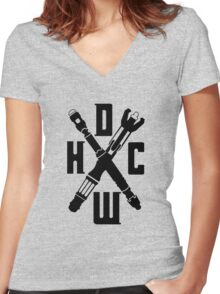 Doctor Who Hardcore Women's Fitted V-Neck T-Shirt