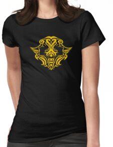 Zodiac Sign Gemini Gold Womens Fitted T-Shirt