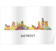 Detroit Michigan Skyline WB1 Poster