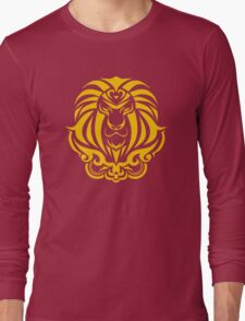 Zodiac Sign Leo Gold Long Sleeve T-Shirt