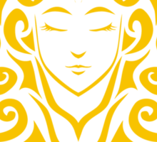 Zodiac Sign Virgo Gold Sticker