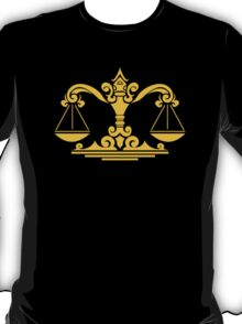 Zodiac Sign Libra Gold T-Shirt