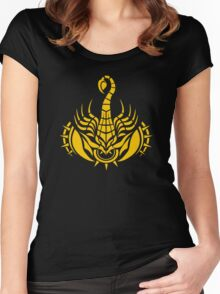 Zodiac Sign Scorpio Gold Women's Fitted Scoop T-Shirt