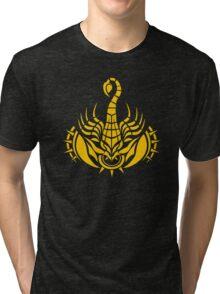 Zodiac Sign Scorpio Gold Tri-blend T-Shirt