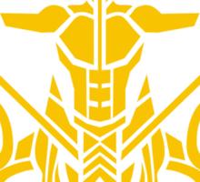 Zodiac Sign Sagitarius Gold Sticker