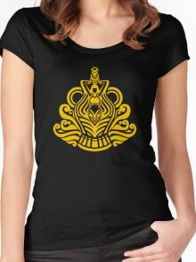 Zodiac Sign Aquarius Gold Women's Fitted Scoop T-Shirt