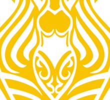 Zodiac Sign Aquarius Gold Sticker